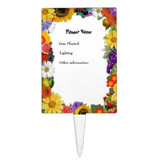 Floral Fruit Medley Plant Marker - Customize Cake Topper