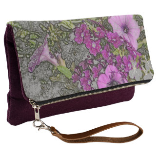 FLORAL (FUCHSIA AND PINKCOLORED FLOWERS AMID GREEN CLUTCH