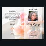 """Floral Funeral Program Flyer Template<br><div class=""""desc"""">Lovely funeral program/obituary Template Flyer.</div>"""