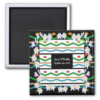 Floral Gala Save The Date Magnet