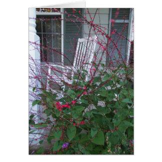 Floral Garden and Porch Rocker, Friend Card