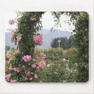 Floral Garden Arch Mouse Pad
