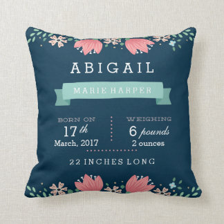 Floral Garden Baby Stats Baby Pillow