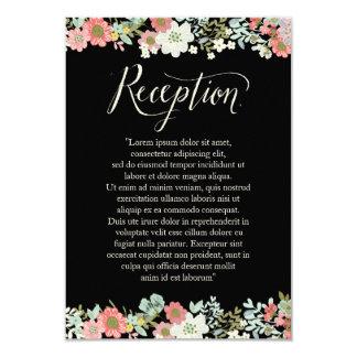 Floral Garden Border Wedding Reception Cards