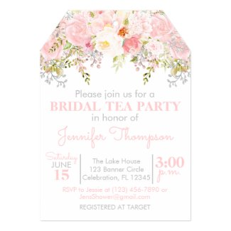 Floral Garden Bridal Tea Party Invitation