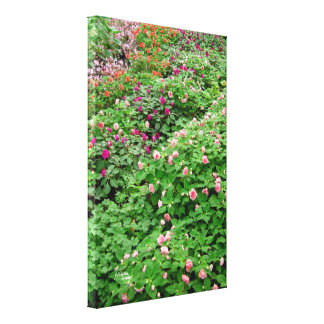 Floral garden Gloss Stretched Canvas Print