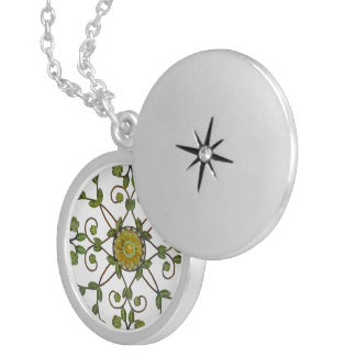 Floral Garden Locket Necklace