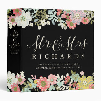 Floral Garden Mr & Mrs Wedding Photo Album Binder