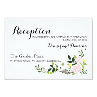 Floral Garden Reception Card