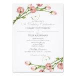 "Floral Garden Roses Wedding Invitation 5.5"" X 7.5"" Invitation Card"