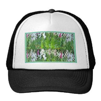 Floral Garden Wave Graphic Digital Fine Art Gifts Trucker Hat