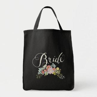 Floral Garden Wedding Bride Tote Bag