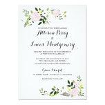 Floral Garden Wedding Invitation - white