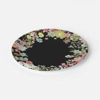 Floral Garden Wedding Paper Plates