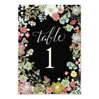 Floral Garden Wedding Table Number Cards