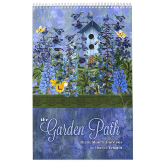 Floral Gardens of Birth Flowers Custom Year Calendar