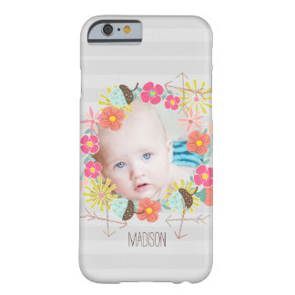 Floral Garland Acorns Arrows New Baby Photo Barely There iPhone 6 Case
