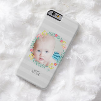 Floral Garland New Baby Photo Barely There iPhone 6 Case