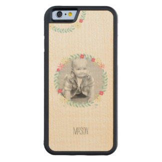 Floral Garland New Baby Photo Carved® Maple iPhone 6 Bumper Case