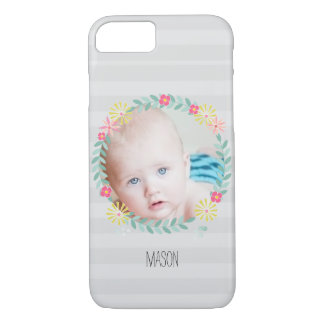 Floral Garland New Baby Photo iPhone 7 Case