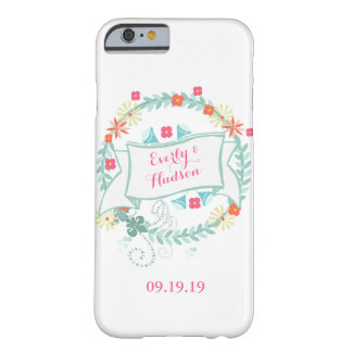 Floral Garland Wedding Date iPhone6 Barely There iPhone 6 Case