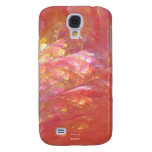FLORAL GAUZE Pink Design Samsung Galaxy S4 Covers
