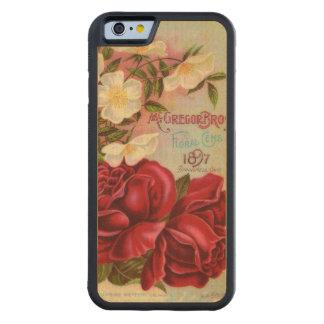 Floral Gem Roses Vintage Flower Catalog Carved Maple iPhone 6 Bumper Case