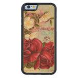 Floral Gem Roses Vintage Flower Catalog Carved® Maple iPhone 6 Bumper Case