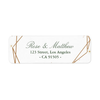 floral geometric address label