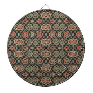 Floral geométrico del vintage en controles tablero dardos