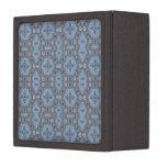 Floral geométrico del vintage en gris y azul claro caja de joyas de calidad