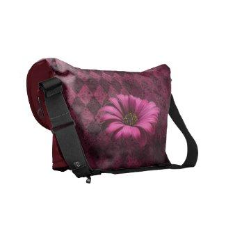 Floral Gerber Grunge Distressed Argyle Pattern rickshawmessengerbag