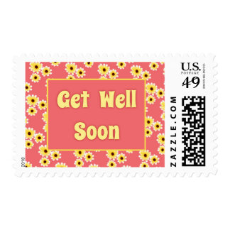 Floral Get Well Postage Stamp