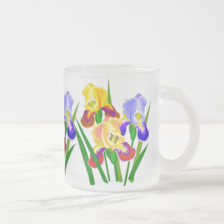 Floral Gifts Frosted Glass Coffee Mug