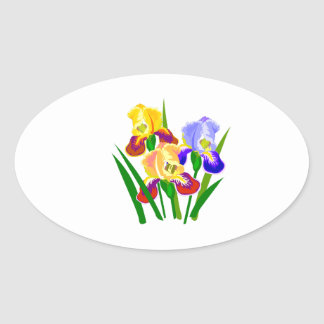 Floral Gifts Oval Sticker