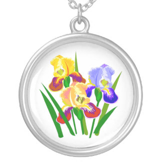 Floral Gifts Round Pendant Necklace