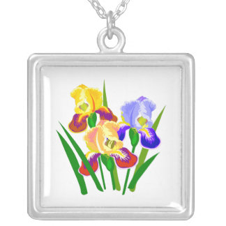 Floral Gifts Square Pendant Necklace
