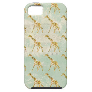 Floral Giraffe Pattern  iPhone Case iPhone 5 Cases