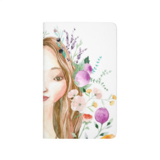 Floral Girl Journal