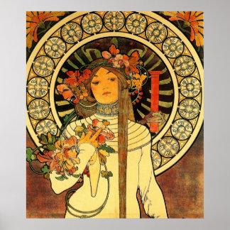 Floral girl poster
