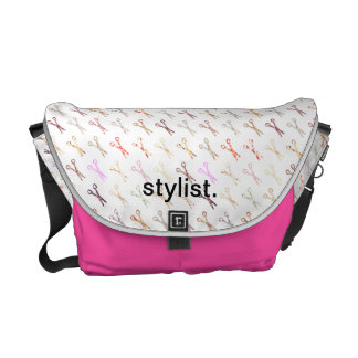 Floral girly scissors colorful hair stylist flower courier bag