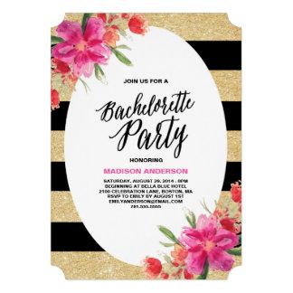Floral Glam Bachelorette Party Invitation