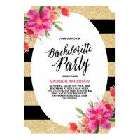 Floral Glam | Bachelorette Party Invitation