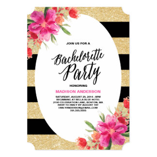 bachelorette party invitations announcements zazzle