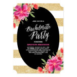 "Floral Glam | Bachelorette Party Invitation 5"" X 7"" Invitation Card"
