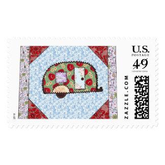Floral Glamper Stamp
