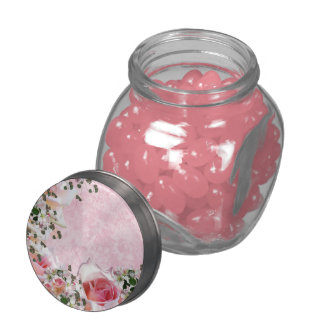 floral glass jar