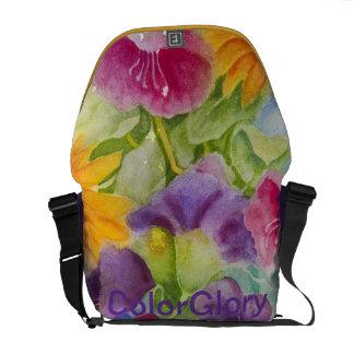 Floral Glory Messenger Rickshaw Bag Courier Bags