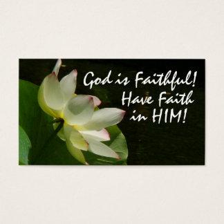 Floral God is Faithful! Card