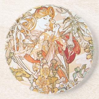 Floral Goddess Beverage Coasters